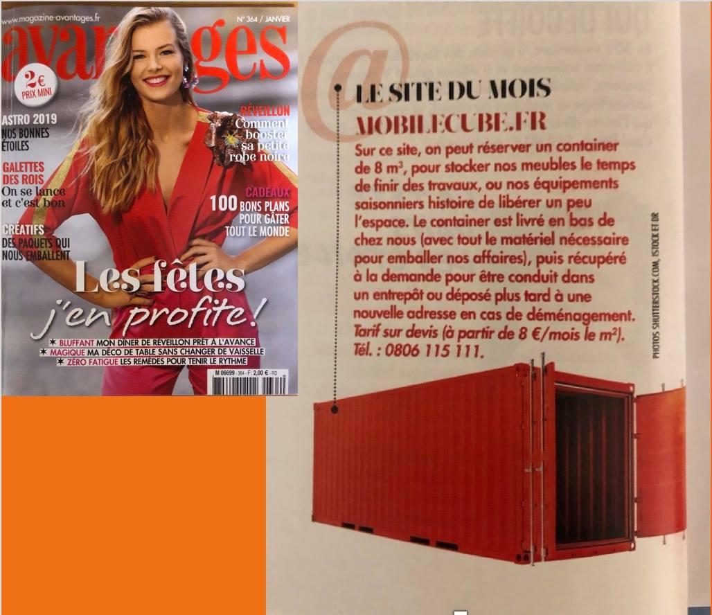 Magazine Avantages - Mobile Cube Site du mois