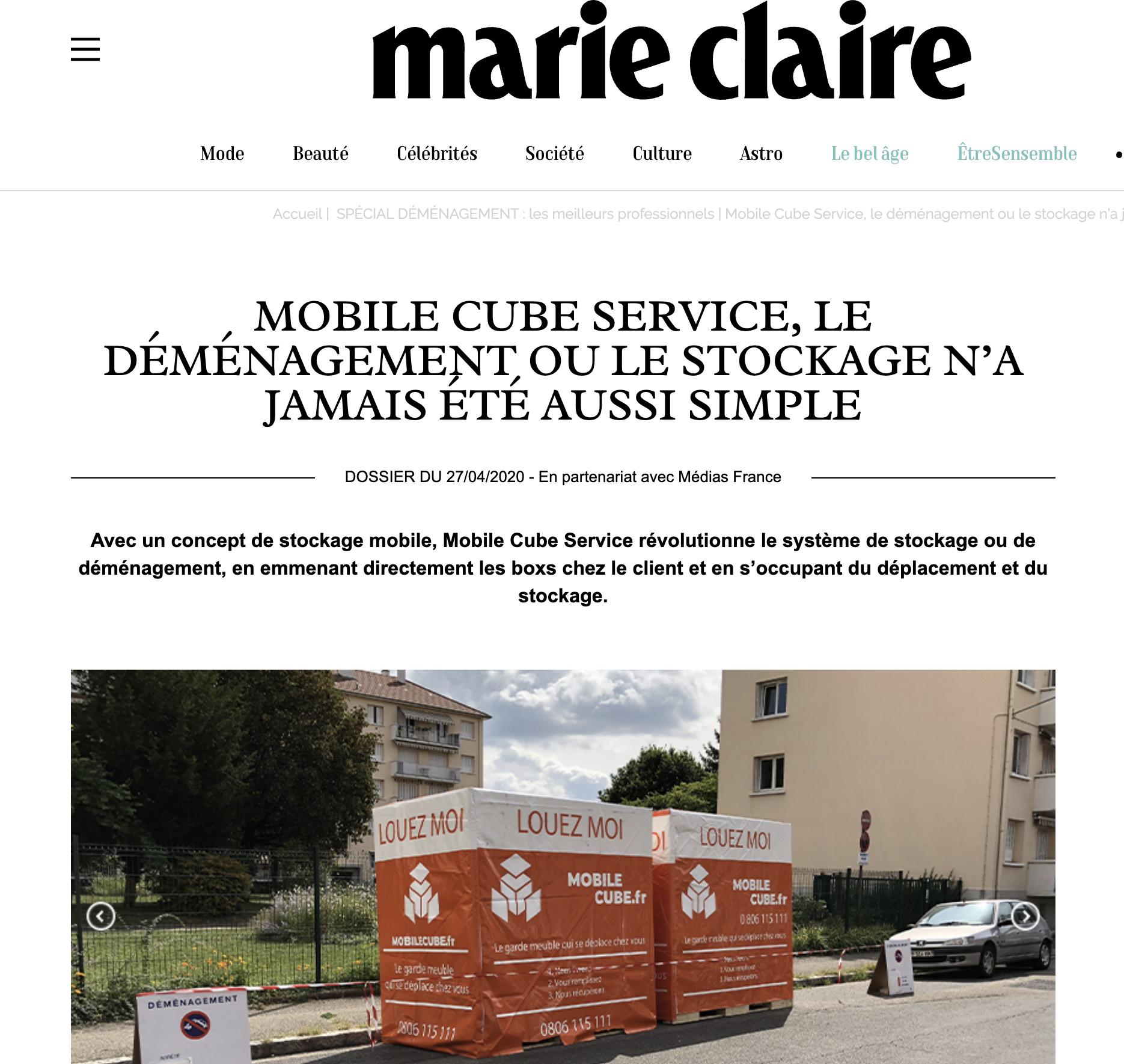 Dossier spécial déménagement les meilleurs professionnels Marie Claire