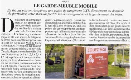 Mobile Cube Service article Le Figaro