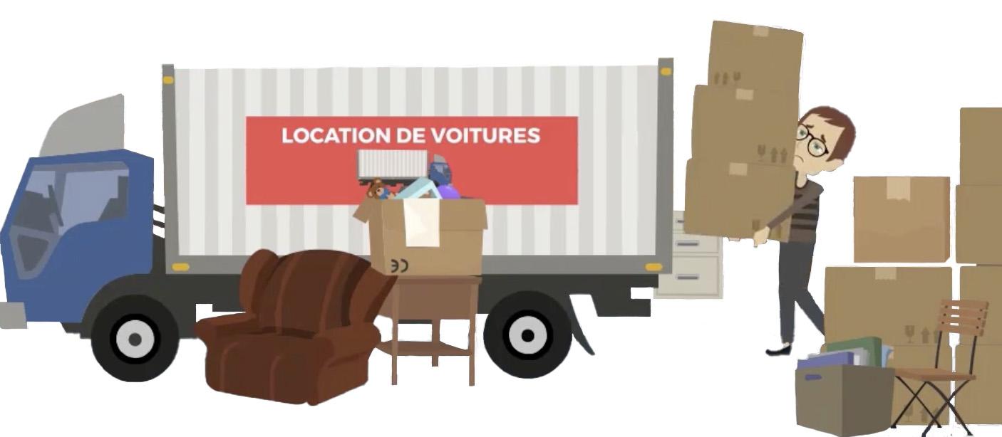 Charger ses affaires dans le camion