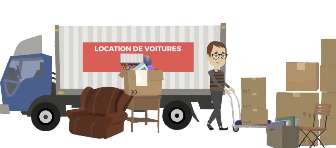 Déchargement du camion et chargement du box