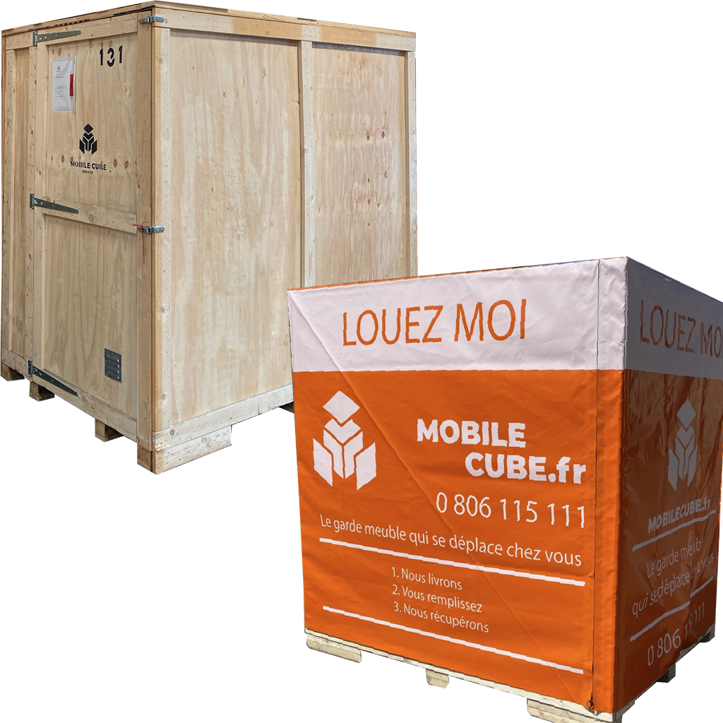 Caisse garde meuble Mobile Cube®
