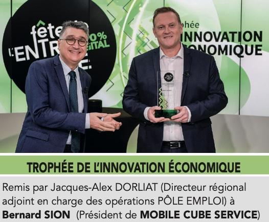 Récompense innovation économique pour du garde meuble