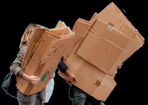 Cartons déménagement de son entourage